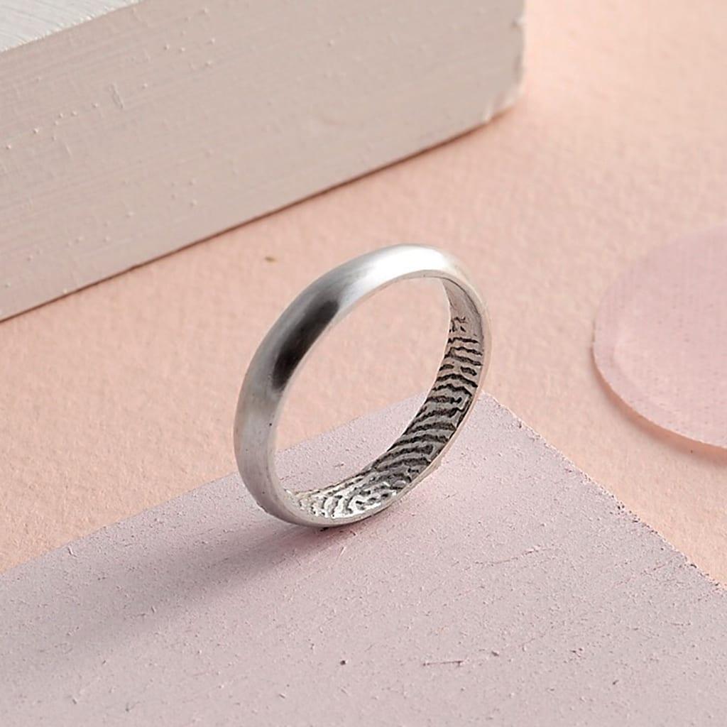Secret Fingerprint Domed Rings – Oliver Twist Designs